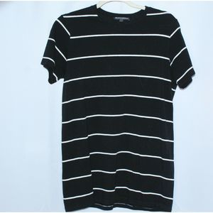 Brandy Melville Striped Black And White  T-Shirt